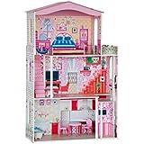 Gran casa de muñecas. Grabable en 3 plantas. Altura 116 cm !! 21 piezas de este conjunto (incl. Muebles, como cabecera cama asiento cabina) con ascensor entre la CE y el 1 ° piso