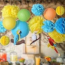 408aca1daef ... escaparates infantiles. 16 Unids ideales decoraciones papel craft  diseños tropicales loros cacatuas para comuniones bodas fiestas partys  barbacoas