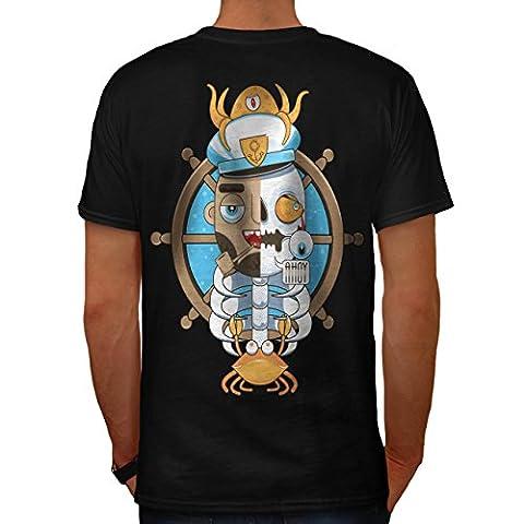 Pirate Dead Skull Funny Men M T-shirt Back | Wellcoda