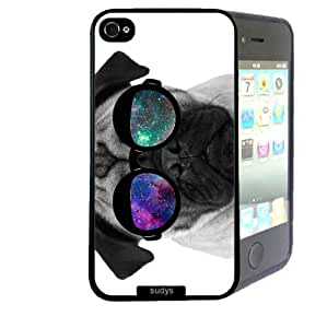 Shawnex Pug Geek Space Hipster Galaxy ThinShell Case Protective iPhone 4 Case iPhone 4S Case