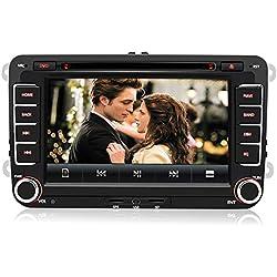 Autoradio Radio de Voiture stéréo 7 Pouces pour VW 2 Din HD Bluetooth Navigation GPS stéréo DVD CD Radio Carte SD USB Multimédia Player Caméra de Recul Supporté Aucune caméra de recul
