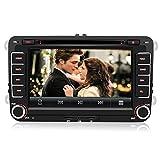 AWESAFE Autoradio mit Navi für Volkswagen Seat und Skoda, 2-Din Radio mit 7 Zoll Touchscreen Monitor, Mirrorlink, AUX-IN, SD, USB und Bluetooth