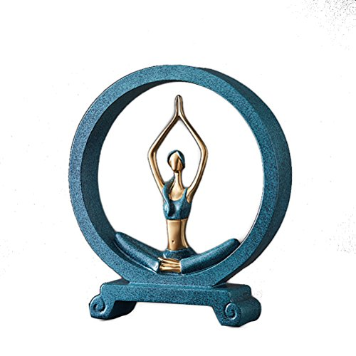 Qiulv - Figura Decorativa Redonda para Yoga, Manualidades, Resina, Manualidades, diseño de...