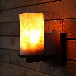 LIYANE23080Marmor Wandleuchten Wandleuchte im Landhausstil Schlafzimmer Nachttischlampe kreative retro Balkon Light Corridor Treppenhaus Kleine Wandleuchten mit 5W, Warmweiß LED-Lampe