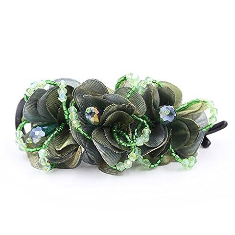 Bijoux de mariage Xinmaoyuan nouveau clip de 8e année à la main en cristal Mode Accessoires cheveux beau tissu Torsion stéréo casque Clip Vert , cadeau de mariage cadeau d'Anniversaire Cadeau De Vacances