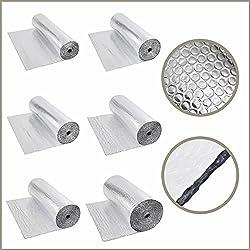 Biard - Isolant Thermique et Acoustique - Feuille Aluminium à Bulles - Isolation Sol Toit Mur - Rouleau 48m²