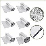 Biard Isolierende Luftpolsterfolie - Wärmedämmende Isolierungsfolie aus Aluminium 1,2 m x 10 m - 200g/m2 - Wärme Isolierung - Schalldämmung - Wasser - & Dampfresistent
