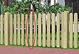 Gartenwelt Riegelsberger Zaunbrett Fichte kdi 16x90 mm 120 cm lang, Typ A, Holz Zaunlatte Latte Stakete