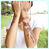 Flash Tattoo temporär BRAUN Henna Art Tattoos Hand Finger Bein