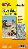 Norden / Norddeich: 1:15.000 Stadtplan und Freizeitkarte 1:25.000 mit Rad- und Wanderwegen, inkl. Cityplan 1:7.500 (KVplan Ostfriesland-Region)