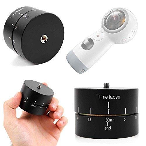 Galleria fotografica DURAGADGET Supporto Girevole Time Lapse Base Per Action Camera Samsung GEAR 360 2017 - 360°- 60 Minuti - Vite In Acciaio Di Alta Qualità