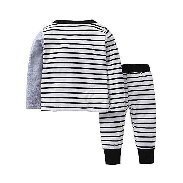 ShangSRS 2-5 años Niño Niña Oso Rayado Patrón Tops Pantalones Otoño/Invierno Ropa Conjuntos 2