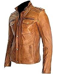 Classyak Hombre Real con una chaqueta de cuero alta calidad