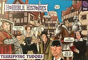 Horrible Histories PLG 7265 Terrified Tudors - Puzzle (250 Piezas), diseño de Paul Lamond Games, Color Morado