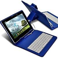 Fone-Case (Blu) Tablet Micro USB QWERTY Tastiera Case 7 '' pollici sottile PU ultra copertura del basamento con chiusura magnetica per Amazon Kindle Fire HDX 7 - Chiusura Plug