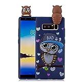 Tifightgo Custodia Compatibile con Samsung Galaxy Note 8 Cover in Silicone Animale Carino Bambole 3D Custodia di Protezione Dagli Urti Opaca Waterproof Strike Prevention