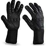 Hitzebeständige Handschuhe aus Silikonwolle, schwer entflammbar, Schwarz