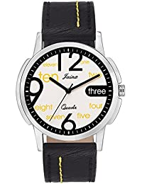 Jainx Numeric White Dial Analog Watch For Men & Boys - JM267