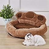 Wuwenw Pet Cat Nest Dog Cama Perrera Cachorro De La Palma, Cálido Comfot Camas para Mascotas para Perros PequeñosPet Pad Mat Pet, M