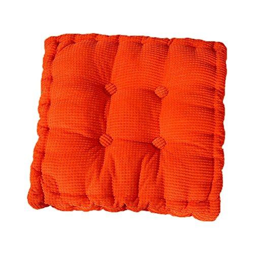 JUNGEN Coussin de Chaise Coussin de Siège Coussin Lounge pour Assise pour extérieur Jardin Balcon 40 * 40cm (Orange)