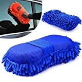 #4: Autostark Microfiber cleaning Cloth Sponge Hand Gloves car dashboard cleaning chenille - Random Color