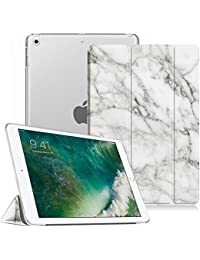 Coque iPad 9.7 2018 / 2017 - Fintie SlimShell Cover Etui Housse avec support ultra-mince et léger avec semi-transparent protecteur et la Fonction Sommeil/Réveil Automatique pour Apple Nouvel iPad 9,7 pouces 2018 / 2017, Marble