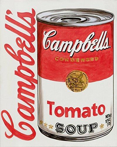rylfarben auf Leinwand und Keilrahmen: Campbells Tomato Soup Can Art / 40x50 cm (Campbell's Tomato Soup Can)