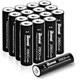 Bonai AA High-Capacity 2800mAh Ni-MH Rechargeable Batteries For Flashlight,Toys & So On(16 Pack)