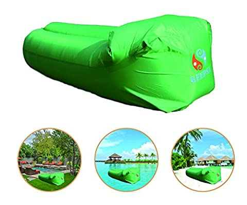 KeepSa Waterproof Inflatable Sofa with integrated cushion, Outdoor Inflatable Couch, Portable Air Beds Sleeping Sofa Couch, for Swimming, Traveling,