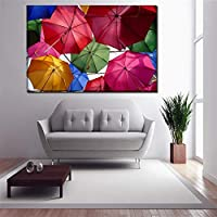 wangpdp Canvas Paintings Wall Art Framework HD Prints 1 Piece/4 Pcs Colorful Umbrellas Pictures Home Decorative Printing Type Posters40x80cm