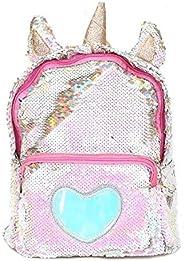 PU Bling Toddler Sequin Unicorn Backpack for Girls Trave School Mini Backpack for Women Sequins Critter Backpack,Gold