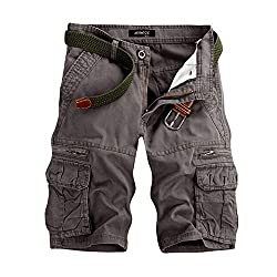 Männer Casual Pure Color Outdoor Pocket Strand Arbeitshose Cargo Shorts Hose Joggen und Training Shorts Hosen Cargo Pant