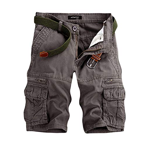 Männer Casual Pure Color Outdoor Pocket Strand Arbeitshose Cargo Shorts Hose Joggen und Training Shorts Hosen Cargo Pant Casual Cargo Hose