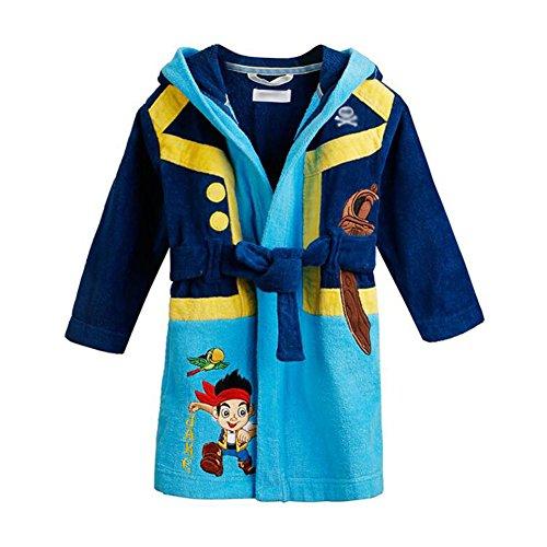 Deylaying Mode Verdicken Wärmen Baumwolle Terry Handtuch Bademantel Jungen Mädchen Kapuze Schlaf Robe Kleid Pyjama (Hose Terry Plüsch)