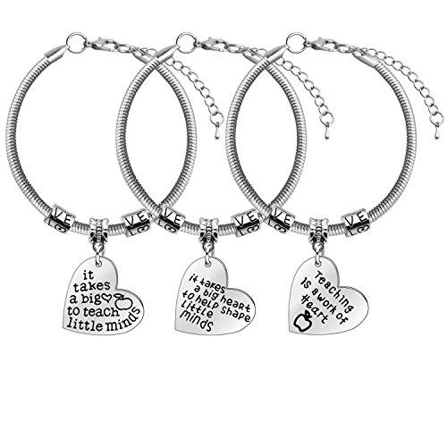 regalo per insegnante, gioielli braccialetto insegnante, regalo giorno dell'insegnante, regalo di laurea (braccialetto 1)