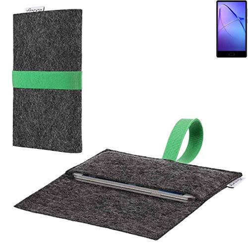 flat.design vegane Handy Hülle Aveiro für Bluboo S1 passgenaue Filz Tasche Case Sleeve Made in Germany