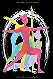 Notizbuch Yoga Diary Tagebuch schwarz: Umfangreiches Fitness Notizbuch 120 linierte Seiten Din A5...