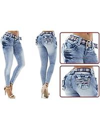 Vaqueros Jeans Wonder / Push Up Súper Pitillo Skinny Jeans Efecto Wonder Colombiano 100% Levanta Glúteos Pantalon Mujer