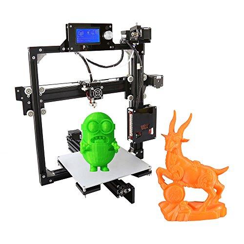 KKmoon Telaio Lega Alluminio Kit stampante Precisione per il Desktop 3D fai da te Schermo Auto Assemblea LCD con 8GB SD Misure Stampa 220 * 220 * 220 mm Sostegno ABS / PLA / HIP / PP / Legno Filament