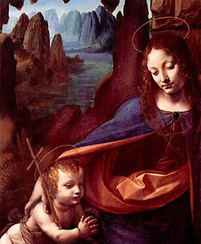 Das Museum Outlet-Madonna in the Rock Cave Detail by Da Vinci, gespannte Leinwand Galerie verpackt. 50,8x 71,1cm