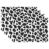 GOODSTHING napperon, Cow Skin Placemat Table Mat, Animal Print 12' x 18' Polyester...