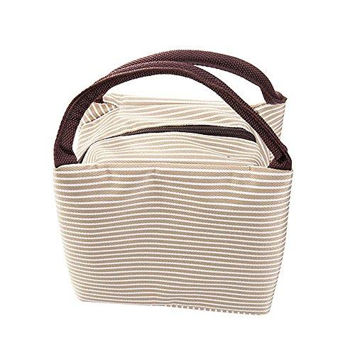WAWJ Mittagessen Tasche Büro Isoliert Damen Mittagessen-Einkaufstasche Beutel-im Freienwerkzeug - Tasche Braun Mittagessen