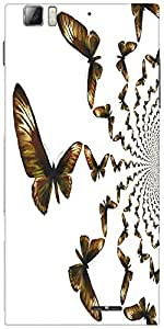 Snoogg Kaleidoscopic Butterflies Designer Protective Back Case Cover For Leno...