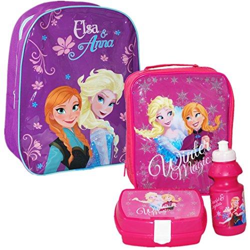 Disney® Frozen Official Kids Children School Travel Rucksack Backpack Bag and Lunch Bag Set - Elsa and Anna