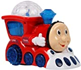 #8: spincart™Musical Train Engine Toy Bump And Go Action With 4D Light And Sound For Kids (Multi Colour)