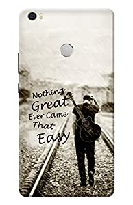 Kanvas Cases Printed Back Cover For Xiaomi Mi Max (Alone) With Mobile Viewing Stand