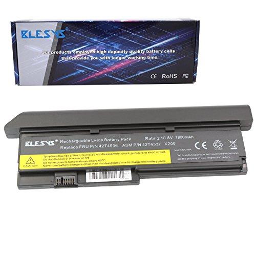 BLESYS - 10.8V 6600mAh Batterie Compatible Avec Lenovo ThinkPad X200 X200s X201 X201s X201i Séries 42T4534 42T4536 42T4538 42T4647 42T4648 42T4834 42T4835 Batterie d'ordinateur Portable