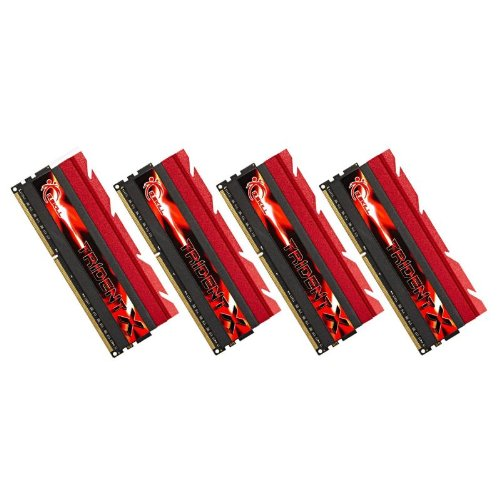 32 GB G.SKill DDR3 PC3-19200 2400MHz TridentX serie CL10 (10-12-12-31) kit Quad Channel