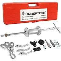 Timbertech Set d'outils pour extraction de moyeu et de roulement de roue de voiture- En acier au carbone- Livré dans un coffret en plastique