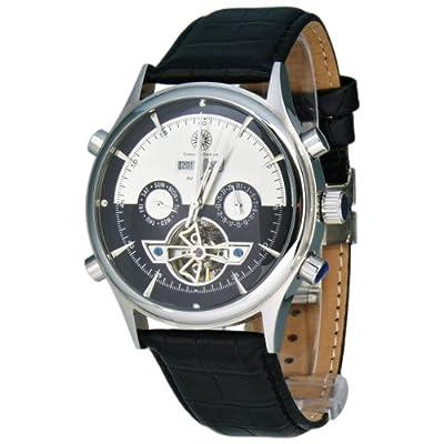 Constantin Durmont Baton Rouge - Reloj analógico de caballero automático con correa de piel negra - sumergible a 30 metros de Constantin Durmont
